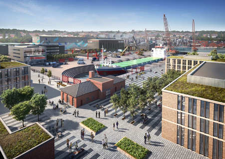 CGI representation of the planned MEA Park at Wirral Waters