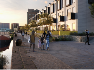 Eric Wright Civil Engineering will undertake extensive public realm work at Wirral Waters