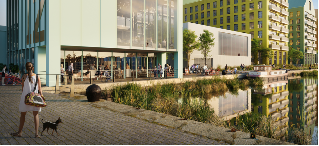 The new public realm at Northbank at Wirral Waters will include four new contemporary squares